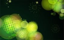 Abstract Green Bokeh Design