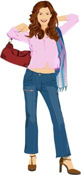 Jeans Girl Vector 15