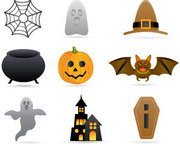 Stock Halloween Vector Icons