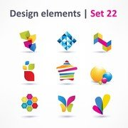 Beautiful Color Threedimensional Logo 04
