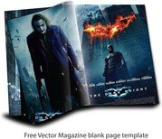 Free Vector Magazine Page Template