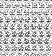 Hand drawn Spooky Halloween Photoshop And Illustrator Pattern