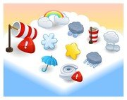 cartoon weather icon 3