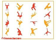Breakdancer Silhouettes Set