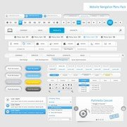 Menu de Navigation Web Design 05