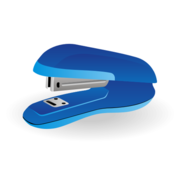 Blue Stapler of an Office Stationary Tool