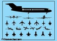 Aircraft Silhouette Set