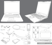 Notebook Accessories Vector Free