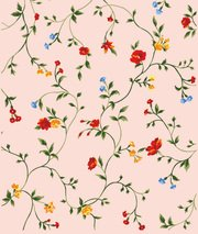 Small red, yellow, blue flower background