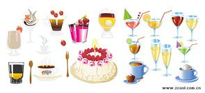 Drinks and cakes