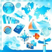 Travel And Tourism Elements Of Vector 1