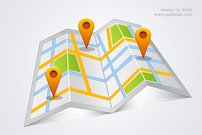 High resolution google map PSD