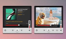 Music And Video Players PSD