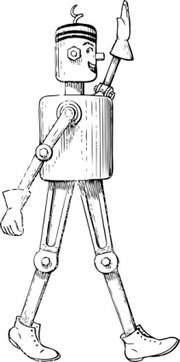 Mechanical Man Side View