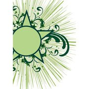 GREEN STAR WITH FLORAL DESIGNS.ai