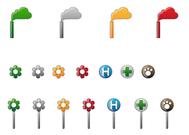 Allergy Vector Map Marker Icons