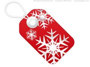 Red and white Christmas tags, PSD template