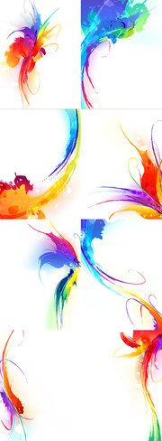 Colorful ink effects of vector material 2