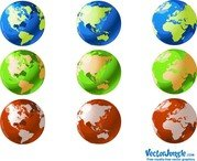 Vector World Globes