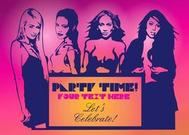 Filles sexy Party Flyer