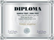 Gorgeous Diploma Certificate Template 05