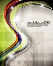 dynamic colorful abstract elements 01