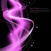 Purple Abstract Vector Line Background