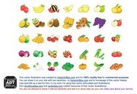 Fruit Vegetables Icons