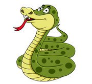 Hand-drawn cartoon snake 04