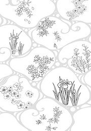 Japanese line drawing of plant flowers vector material -47 (