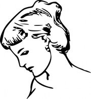 Female Profile Drawing