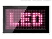 Black led screen PSD template