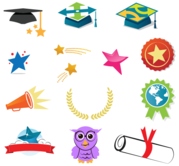 Free Vector Graduation Icons