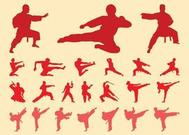Martial Arts Silhouettes Set