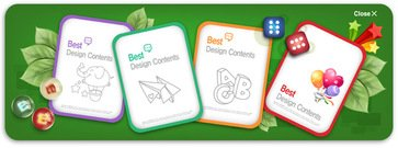 Great Template of Cards for Children