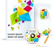 Simple And Colorful Business Template Vector 1 Vi