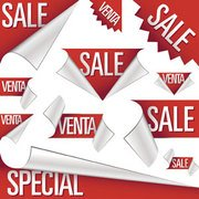 Stock Illustrations Red Stikers Sale