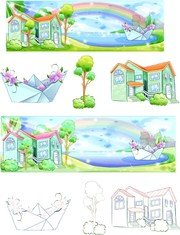 Summer Style Handdrawn Style Vector Series 5
