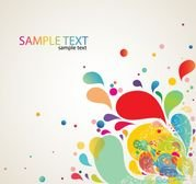 Colorful Abstract Splash-Design