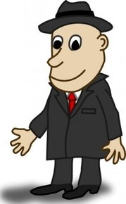 Comic Characters Businessman