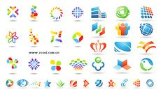 Vector material over logo graphic templates