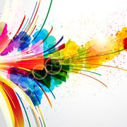 Kostenlose Vector Colorful splash