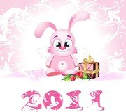 2011 Vector Cute Angel Rabbit