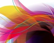 Abstract Colorful Wave Lines Background