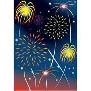 Fireworks New Year Celebration Vector Art