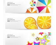 Modern website banner vector set