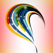 Colorful Abstract Curvy Stripes