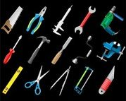 Stock Illustrations 3D Icon of Joiner's Tools
