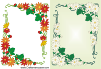 Free Vector Floral Frame Design in Art Nouveau Style