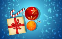 Christmas Card With Gifts Abstract Art Backdrop